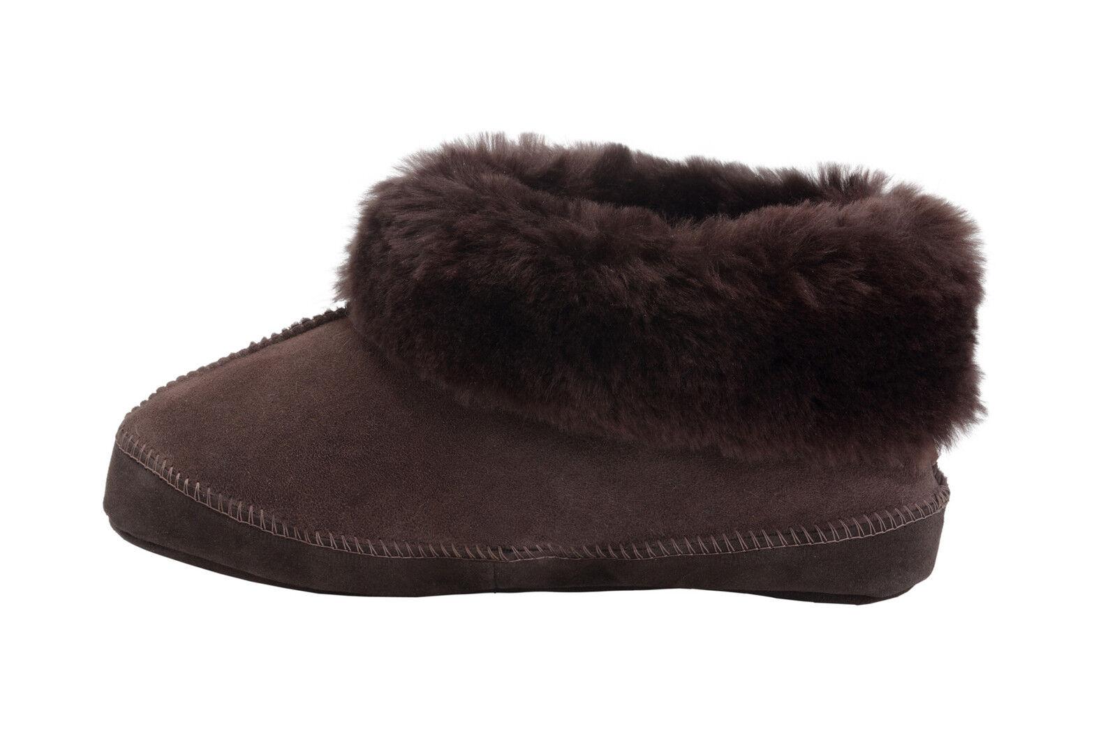 Nouveau homme femme en en en peau de mouton Bottines Chaussons en Cuir Bottines Chaussures UK Taille 3-10 b47dd7