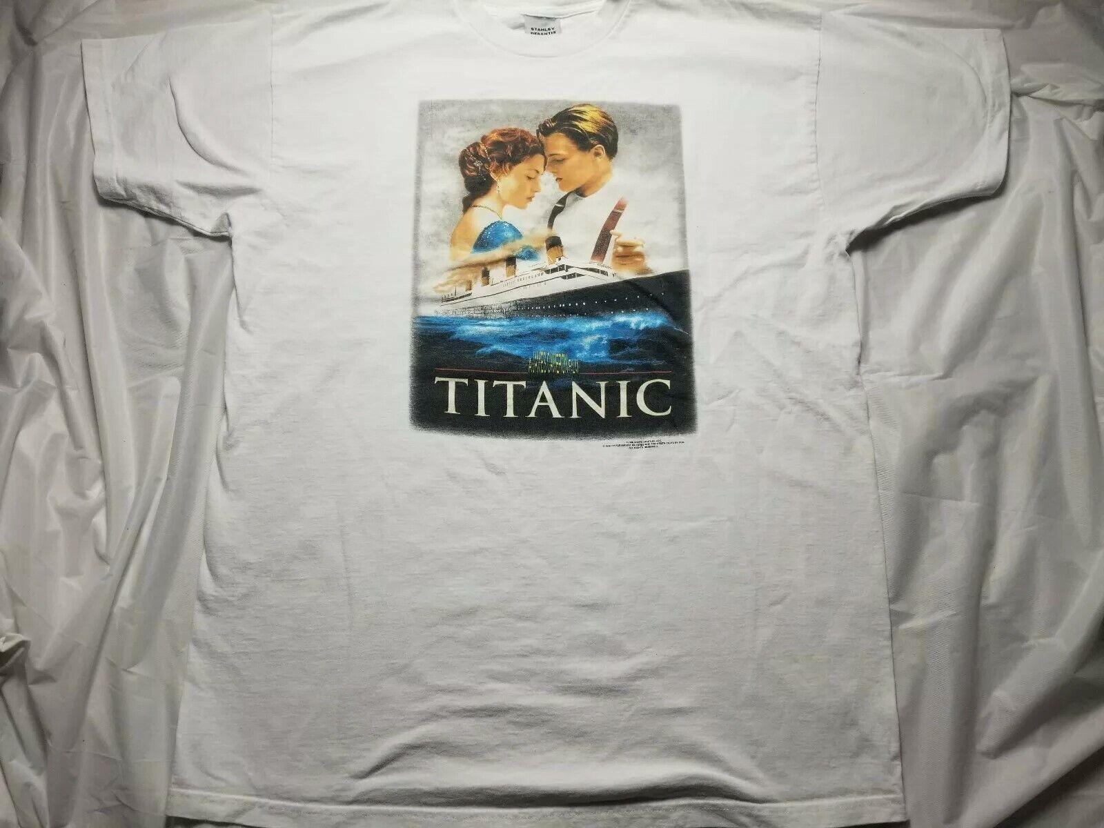 Vintage STANLEY DESANTIS Titanic T Shirt 1998 2xl Dicaprio Winslet RARE