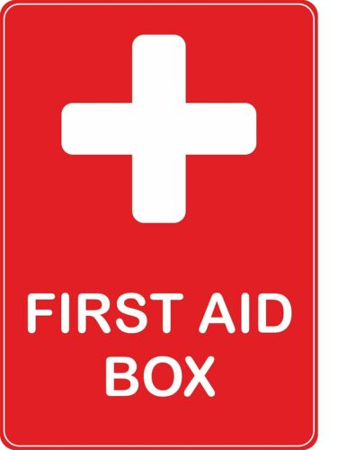 sticker first aid box red health emergency safetydecal macbook self adhesive