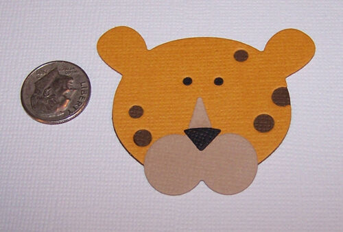 2 Leopards Premade PAPER Die Cuts Scrapbook /& Card Making