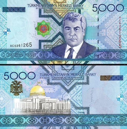 P.21 Turkmenistan 5000 Manat 2005 Unc