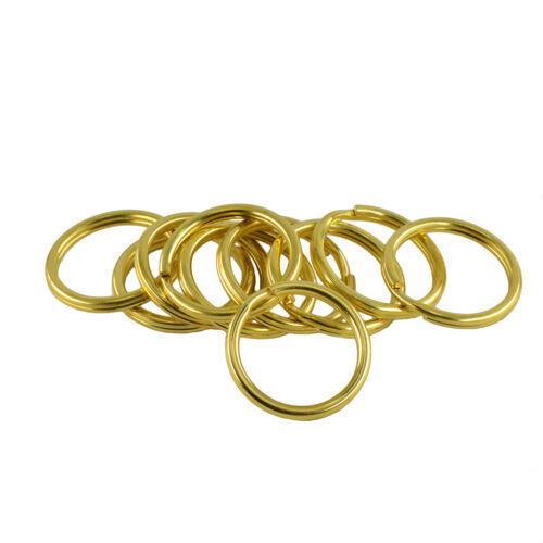 10pcs Keychain Split Key Ring Keyring Brass Gold Round Findings DIY Accessories