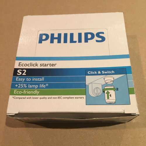 Starter philips s2 écoclick 4-22w lamps fluorescent tube pack of 1 has 25 pieces