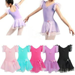 Details About Princess Dresses Ballet Maillot P Girls Tútu Suit Gymnastics Dance Show Original Title