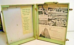 Details about Vintage Alcoa Aluminum Siding Salesman Sample Case