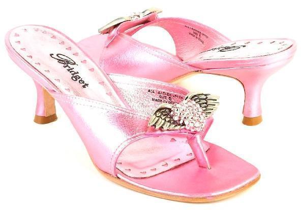 New BRIDGET donna Leather Leather Leather Rhinestone Thong Heel Slide Open Toe Sandal scarpe 08664c
