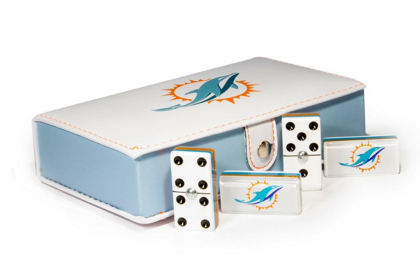Miami Dolphins Domino  100% Acrylic, Faux Leather Case  Miglior prezzo