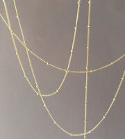 Gold Fill Satellite Chain Layering Necklace Also In Rose Gold Fill And Silver