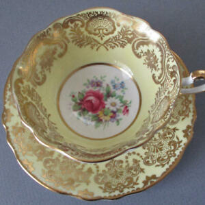 Vintage-PARAGON-English-Bone-China-Cup-amp-Saucer-PINK-ROSE-A-1147-Double-Warrant