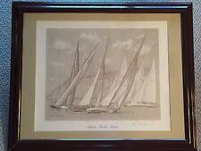 John Philip Hagen Classic Twelve Meter Yacht Sail Newport RI Signed Litho Rare