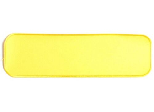 """H43 10/"""" x 3/"""" YELLOW BLANK sew on patch 4073 Large Blank Patches"""