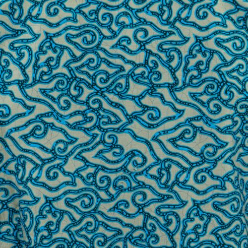 Mens Shirt Loud Originals TAILORED FIT Abstract Blue Retro Psychedelic Fancy