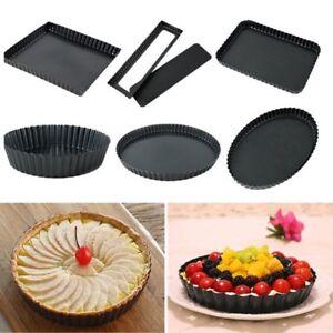 1X-Stainless-Steel-Non-stick-Pie-Tart-Pan-Mould-Baking-Bakeware-Dishes-Cake-Pan