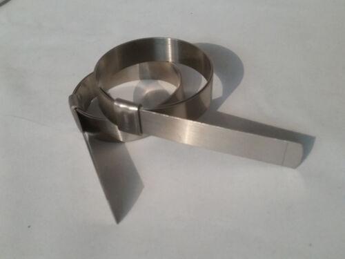 5 x Bande-il lisse I.D Clamps JS210 préformé Pince cerclage en acier inoxydable