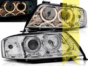 DEPO-Angel-Eyes-Scheinwerfer-fuer-Audi-A6-C5-4B-Limousine-Avant-chrom-XENON