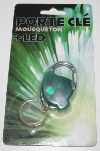 Lumière Led Verte NEUF Porte Clefs Moderne Mousqueton