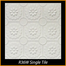 R36W White Decorative Styrofoam Glue Up Ceiling Tiles 20x20 Tin Look