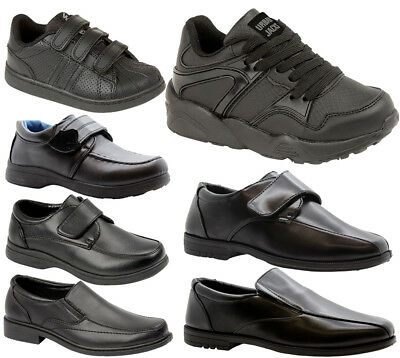 BOYS KIDS INFANT STRAP FORMAL PARTY WEDDING BACK TO SCHOOL SHOES TRAINERS SIZE