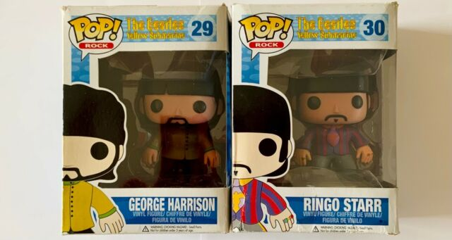 Funko Pop Ringo Starr George Harrison The Beatles #27 Vaulted Grial Damage Box