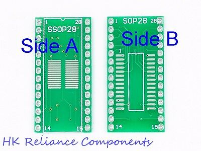 10 SOP8 SSOP8 to DIL8 8-Pins 0.65 1.27mm IC Adapter Converter Boards
