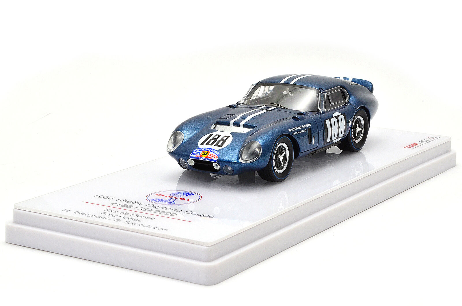 Shelby Daytona Coupe' Csx2299 #188 Tour De France 1964 True Scale 1:43 TSM154353 | France