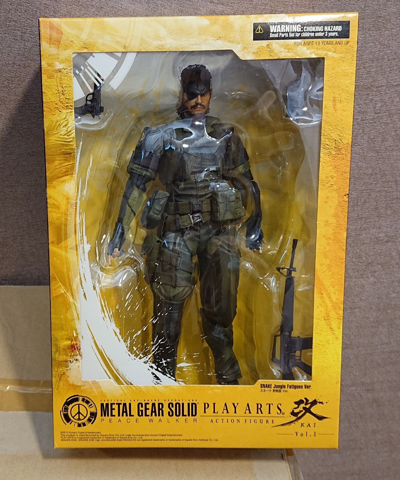 Play Arts Kai Vol 3 Metal Gear Solid Peace Walker Snake Jungle Fatigues Ver New