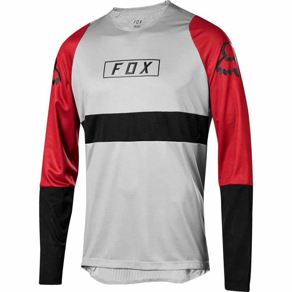 Fox Racing 2019 2019 2019 Defend Long Sleeve L S Fox Jersey Steel grigio 606958