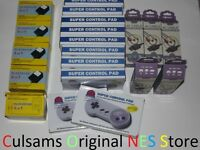 10 Super Nintendo Snes Controllers, 5 Ac Adapter, 5 Av Cables Wholesale Lot