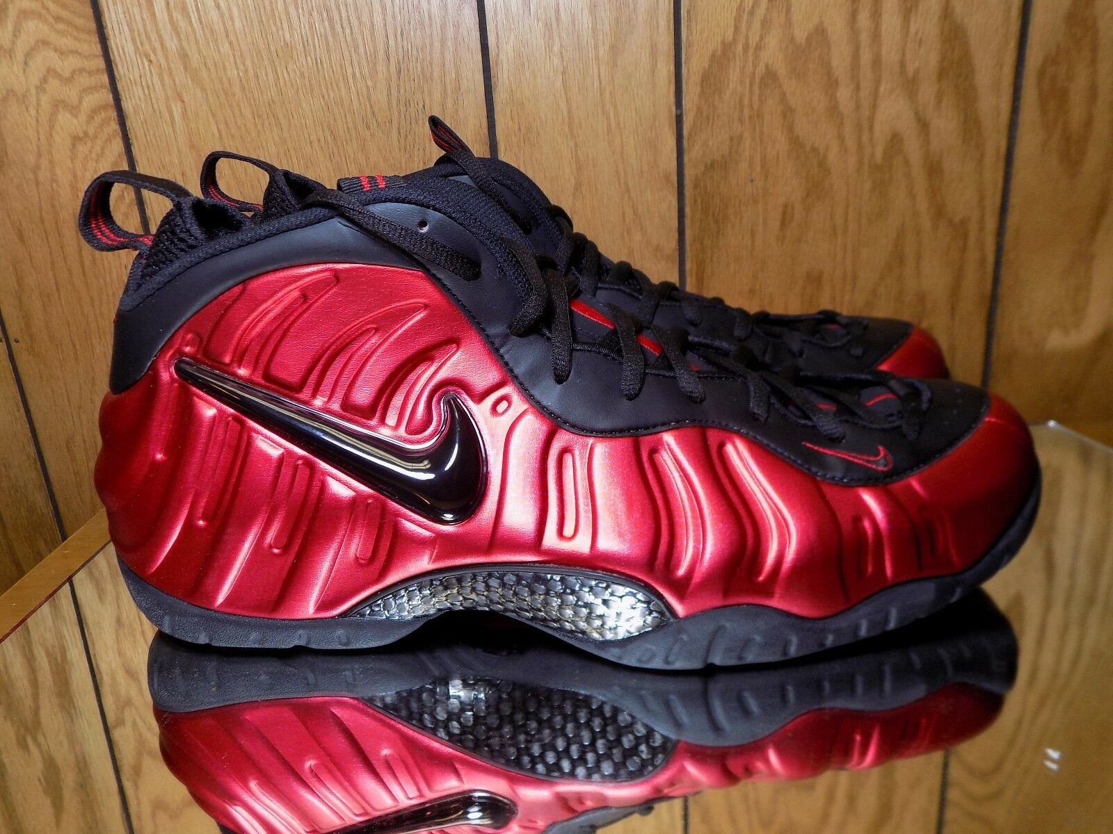 Nike Air Foamposite Pro Red Black 624041-604 Size 17 Brand New