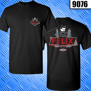 Felix-the-cat-Lowrider-T-Shirt-Red-Design-9076