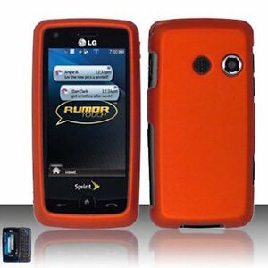 For-LG-Rumor-Touch-LN510-Banter-Touch-UN510-Hard-Case-Phone-Cover-Rubber-Orange