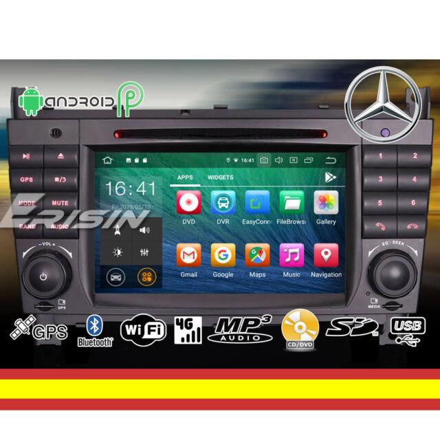 RADIO CD ANDROID 9 MERCEDES W203 W209 Octacore WIFI GPS BLUETOOTH USB MIRRORLINK