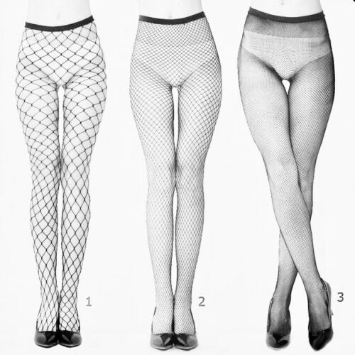 Fencenet Large-Hole Grey Fishnet Dance Tights Seamfree One Size //XL// XXL *RARE*