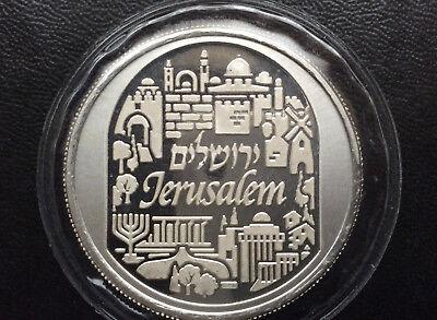 1 oz .999 Fine Silver Bullion 2015  City of Peace Jerusalem Holy Land Mint