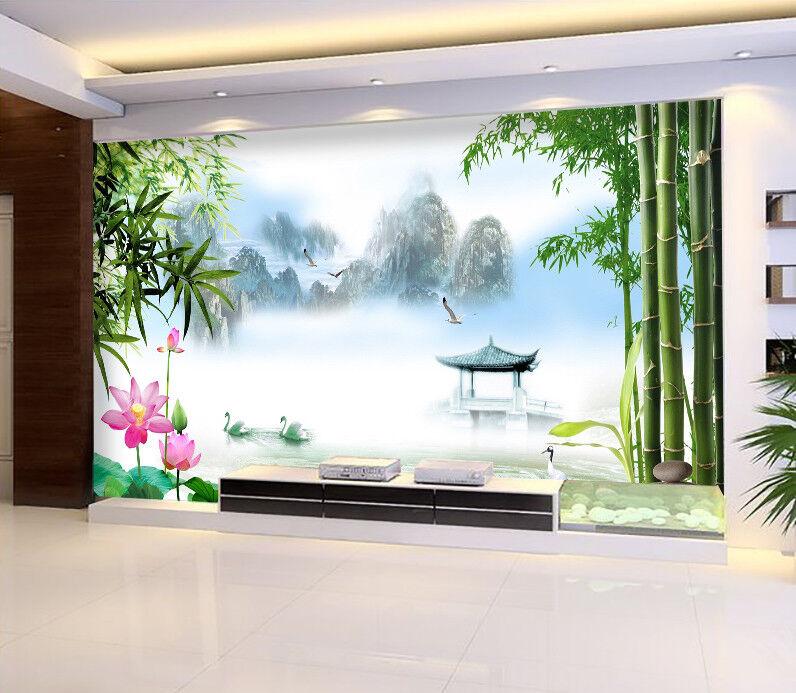3D Bambuswald Landschaft 8893 Tapete Wandgemälde Tapeten Bild Familie DE Jenny    Neuer Markt    Online-Exportgeschäft    Schöne Farbe