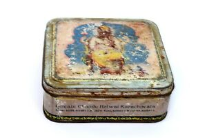 Obliging Vintage Decorative Rare Collectible Advertisement Litho Tin Box India I2-96 Au