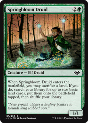 x4 Springbloom Druid MTG Modern Horizons C M//NM English