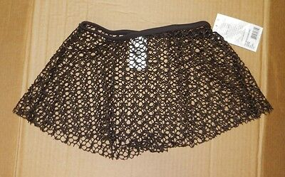 NWT Capezio Pull on jacquard skirt Adult sizes 10192 Expresso Gold thread
