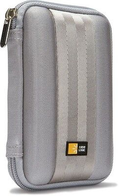 "Case Logic QHDC101 Portable External 2.5"" Hard Drive Padded Case Grey NEW Gray"