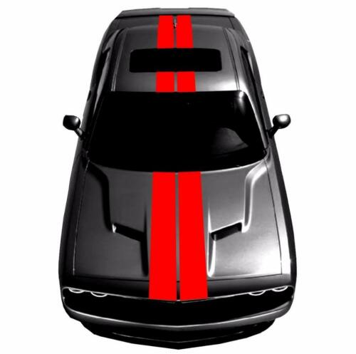 """9/"""" Double Center Racing Stripes Vinyl Decal Fits Dodge CHALLENGER /& CHARGER"""