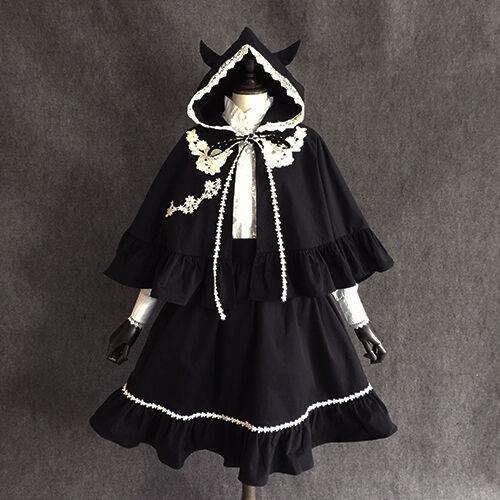 Coat Girls Mori Vintage Lolita Sweet Gothic Little s8 5 Scialle Devil Princess xwqpazaWn8