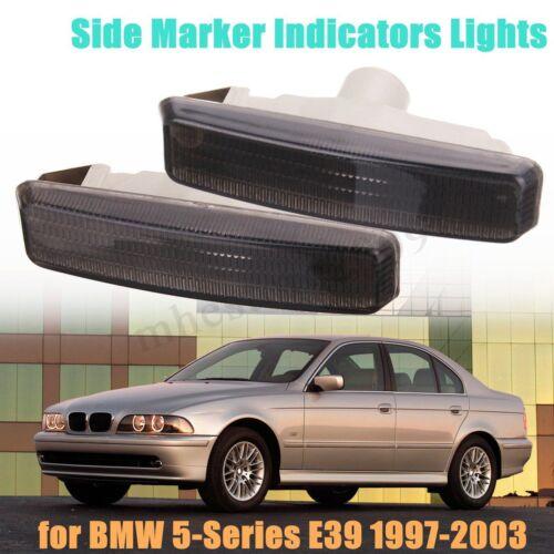 2x Fender Side Marker Light Turn Signal Lamp For BMW E39 5-Series E39 1997-2003
