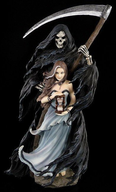 Anne Anne Anne Stokes Figurine - Summon the Reaper - Gothic Fantasy Daemon Grim Reaper Elf 5bcbc8