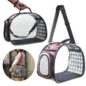 Portable-Transparent-Pet-Carrier-Cat-Dog-Puppy-Travel-Tote-Cage-Bag-Kennel-Crate
