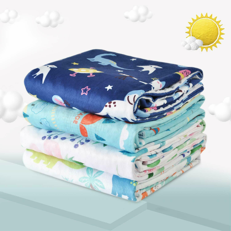 Pink Toddler Soft Baby Dot Minky Blanket Girls Boys Crib Blankets 30x40