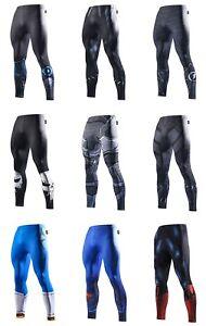 Mens-Compression-Superhero-Bottom-Base-Layer-Leggings-Gym-Long-Running-Thermal