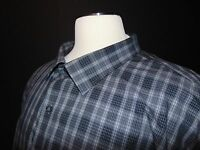 Nwt, Synrgy Button Front Casual Shirt 5xl Big & Tall Gray Plaid