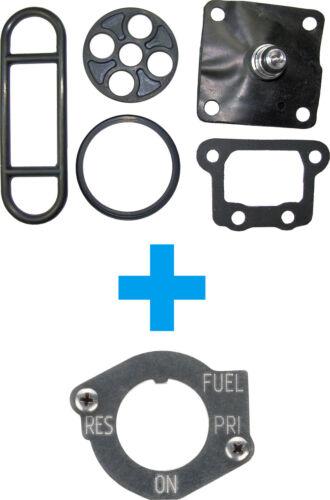 SR500 /'92 Benzinhahn Reparatur-Set  Makeover Kit /'Edelstahl/' VA-Panel+Schrauben