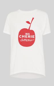 Logo T Tag shirt 16 With Ma L Whistles Size New Cheri White Amour IAtCzzqw