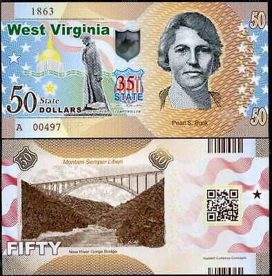 50 D 2014 VA VIRGINIA 10th STATE POLYMER COMM UNITED STATE USA UNC